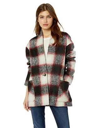 Pendleton Women's Collarless Plaid Coat