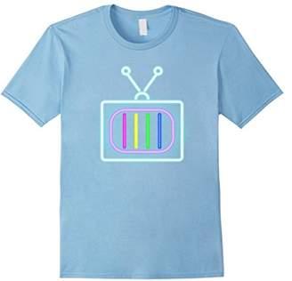 80s Retro Neon Sign Retro TV T-Shirt. 80's Gift