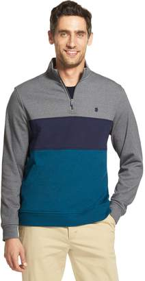 Izod Men's Advantage SportFlex Performance Colorblock Stretch Quarter-Zip Pullover