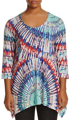 Nally & Millie Plus Ribbed Tie Dye Tunic $94 thestylecure.com