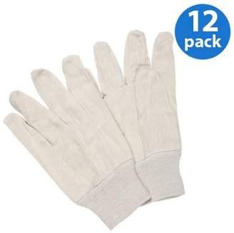 HANDS ONTM CT7400-L-12PK, Poly/Cotton Blend Natural Canvas Glove, 12 Pair Value Pack