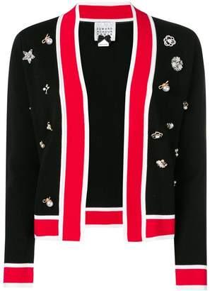 Edward Achour Paris embellished open cardigan