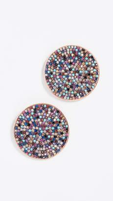 Nickho Rey Plate Stud Earrings