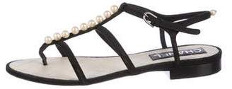 Chanel Embellished Thong Sandals