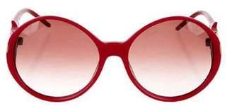 Roger Vivier Round Buckle Sunglasses