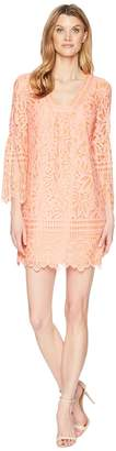 Laundry by Shelli Segal Lace Shift Dress with Bell Sleeves Women's Dress