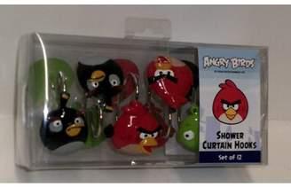 Jay Franco Angry Birds Shower Curtain Hooks Set of 12