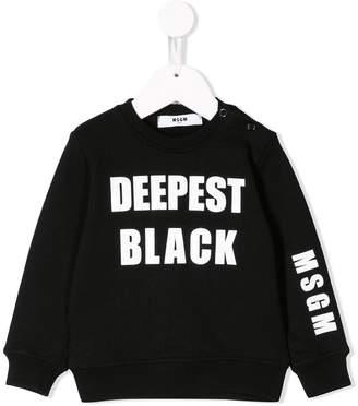 MSGM Kids colour print sweatshirt