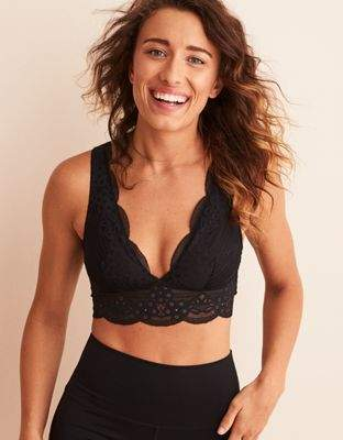 aerie Wonder Lace Strappy Back Bralette