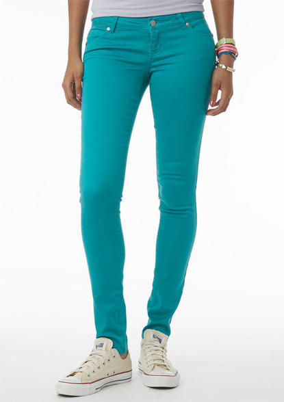 Delia's Olivia Low-Rise Jegging in Green Stone