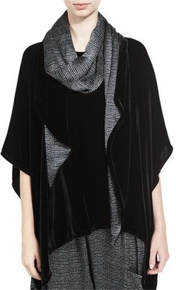 Eileen Fisher Washable Velvet Scarf, Black $158 thestylecure.com