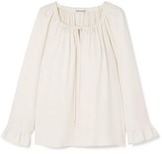 Elizabeth and James Fleur Ruffled Cady Blouse - Ivory