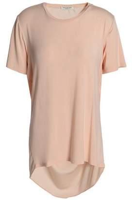 Halston Draped Stretch Modal-Jersey T-Shirt