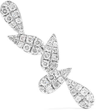 Leon Yvonne 18-karat White Gold Diamond Earring