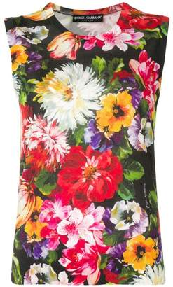 Dolce & Gabbana floral print tank top