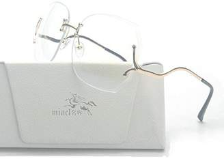 clear MINCL/Rimless Oversized Vintage Retro Style Eye Glasses Sunglasses (-clear,