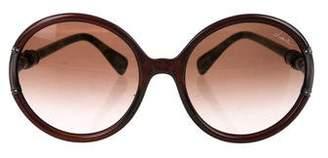 Lanvin Swarovski Round Sunglasses