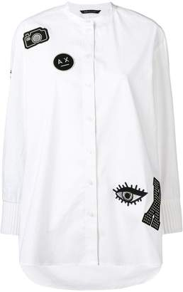 Armani Exchange embroidered patches shirt