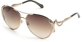 Roberto Cavalli 62mm Aviator Sunglasses