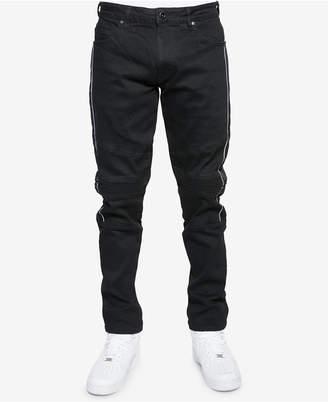 Sean John Men Slim-Fit Moto Jeans