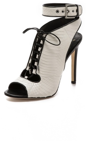 Brian Atwood Lodosa Ankle Strap Lace up Bootie