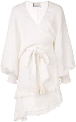 Alexis Mirza crinkled wrap dress