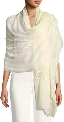 Bindya Accessories Opposite Attraction Lace-Trim Stole