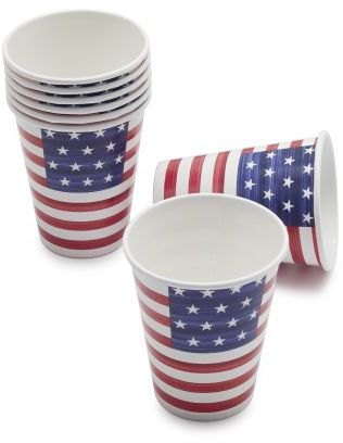 Paper Products Stars and Stripes Paper Cups, Set of 8