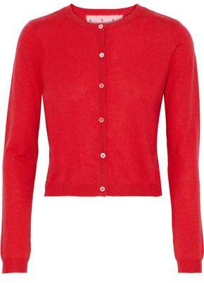 RED Valentino Point D'esprit-Paneled Cashmere And Silk-Blend Cardigan