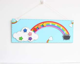 Craftly Personalised Rainbow And Stars Reward Chart