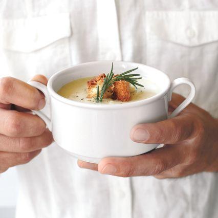 Sur La Table Blanc Double-Handle Soup Bowl