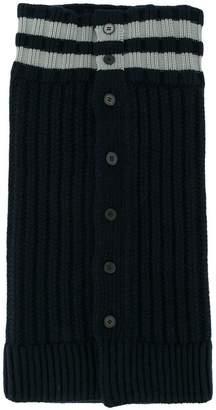 Jil Sander striped cable-knit scarf