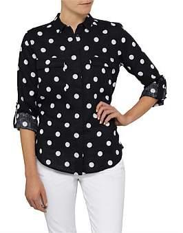 David Jones Spot Linen Shirt
