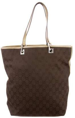 362210a6388 Pre-Owned at TheRealReal · Gucci Vintage Web GG Canvas Tote