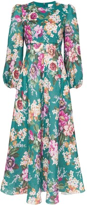 Zimmermann Allia floral print midi dress