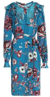 Roberto Cavalli Floral-Print Silk-Crepe Shirt Dress