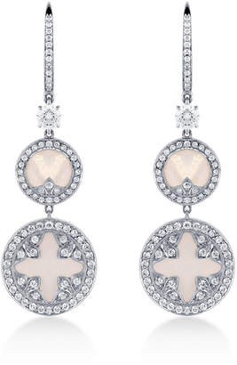 Treasure Empress 18ct White Gold and 1.41cttw Diamond Carriage Earrings