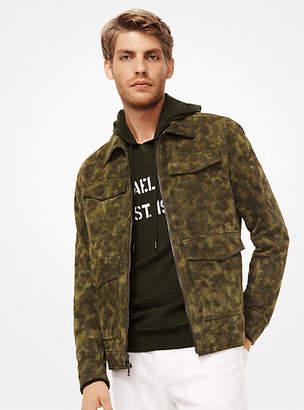 Michael Kors Camouflage Suede Utility Jacket