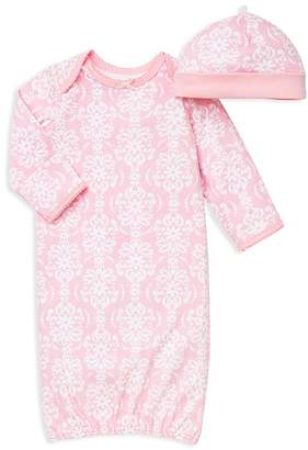 Little Me Girls' Damask Scroll Print Gown & Hat Set - Baby