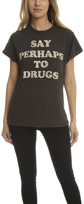 madeworn rock MadeWorn Say Perhaps To Drugs Tee $160 thestylecure.com