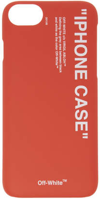 Off-White Red Quote iPhone 8 Case