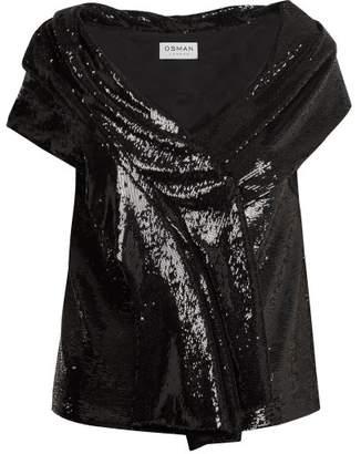 Osman Sigourni Sequin Embellished Top - Womens - Black