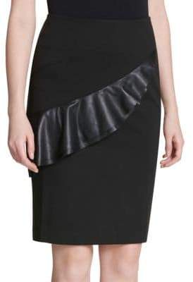 Calvin Klein Flounced Pencil Skirt