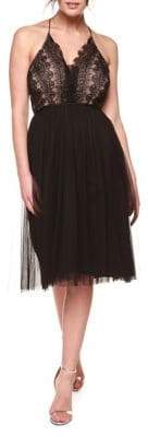 Occasion By Dex Lace Tulle Sleeveless Dress