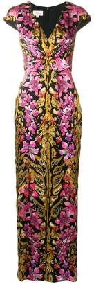 Temperley London floral printed knotted dress