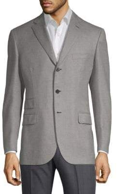 Brioni Marled Wool & Silk Suit Jacket