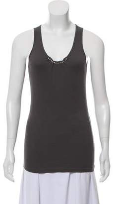 Brunello Cucinelli Embellished Tank Top Grey Embellished Tank Top