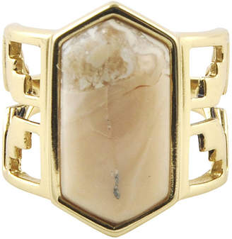 Artsmith BY BARSE Art Smith by BARSE Lab-Created African Opal Brass Ring