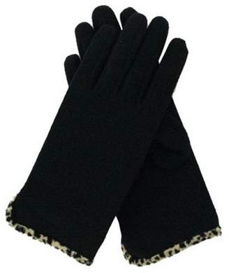 Dents Leopard trim gloves