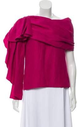 Hellessy Waterfall Silk-Blend Top w/ Tags Pink Waterfall Silk-Blend Top w/ Tags